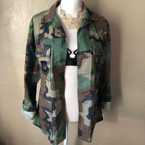 Jackets & Blazers - Authentic Camo Military Jacket